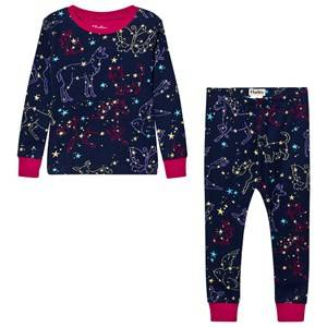Hatley Girls Nightwear Navy Navy Animal Stars Print Pyjamas