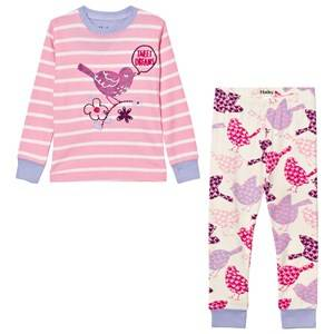 Hatley Girls Nightwear Pink Pink Bird Print Pyjamas