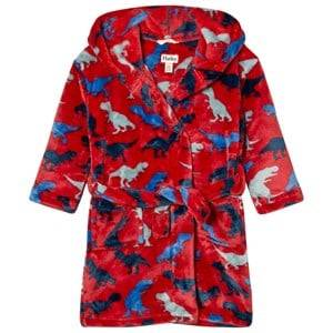 Hatley Boys Nightwear Red Unisex Dinosaur Print Bathrobe