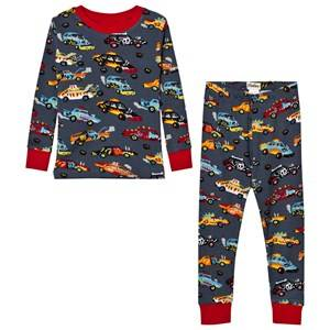 Hatley Boys Nightwear Grey Grey Cars Print Pyjamas