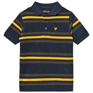Scott Lyle & Scott Boys Tops Navy Navy Marl Stripe Polo