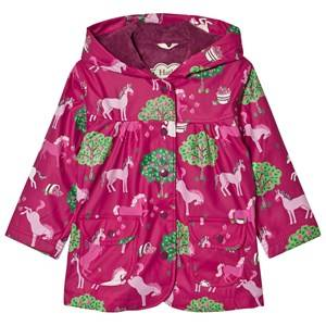 Hatley Girls Coats and jackets Pink Horse and Apple Print Raincoat Pink