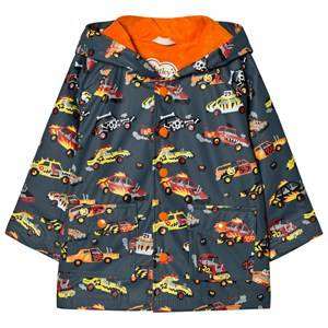 Hatley Boys Coats and jackets Grey Car Print Raincoat Dark Grey