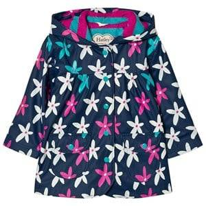 Hatley Girls Coats and jackets Navy Flower Graphic Print Raincoat Navy