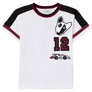 Dolce & Gabbana Boys Tops White White Motor Sports Applique Tee