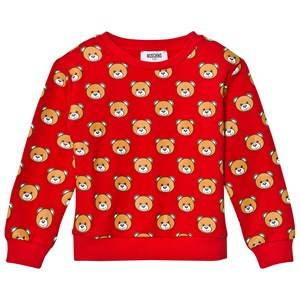 Moschino Kid-Teen Girls Jumpers and knitwear Red Red All Over Bear Print Sweatshirt