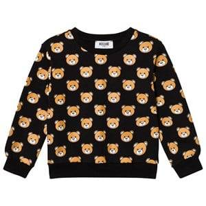 Moschino Kid-Teen Girls Jumpers and knitwear Black Black All Over Bear Print Sweatshirt