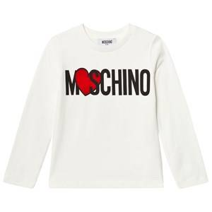 Moschino Kid-Teen Girls Tops Cream Cream Heart Branded Tee
