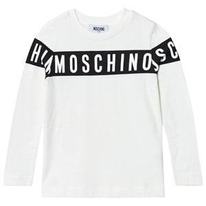Moschino Kid-Teen Boys Tops White White Branded Long Sleeve Tee