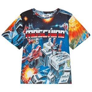 Moschino Kid-Teen Boys Tops Blue Blue Transformers Branded Tee