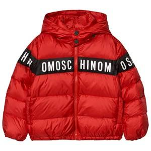 Moschino Kid-Teen Boys Coats and jackets Red Red Branded Down Puffer Coat