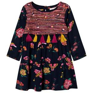 Billieblush Girls Dresses Navy Navy Floral Print Tassel Dress