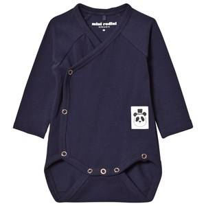 Mini Rodini Unisex All in ones Blue Basic Wrap Body Navy