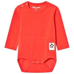 Mini Rodini Unisex All in ones Red Basic Baby Body Red