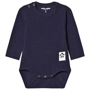 Mini Rodini Unisex All in ones Blue Basic Baby Body Navy