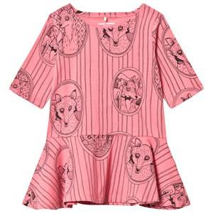 Mini Rodini Girls Dresses Pink Fox Family Dress Pink