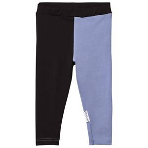 Gugguu Unisex Bottoms Black Leggings Black/Ice Blue