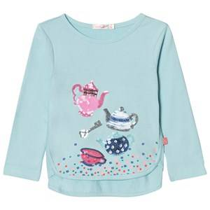 Billieblush Girls Tops Blue Blue Sequin Tea Party Tee