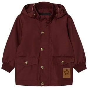 Mini Rodini Unisex Coats and jackets Red Pico Jacket Burgundy