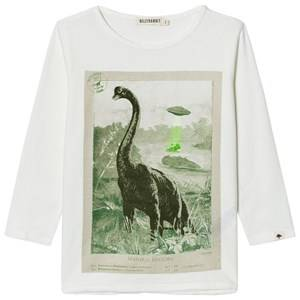 Billybandit Boys 1 Tops White Cream Dinosaur Tee