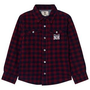 Timberland Boys Tops Red Red and Navy Check Shirt