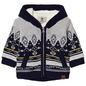 Timberland Boys Jumpers and knitwear Grey Grey Fairisle Knit Hoody