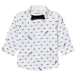 Billybandit Boys 1 Tops White Dinosaur Print Bow Tie Shirt