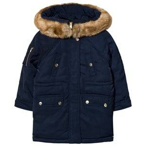 Chloé Girls Coats and jackets Navy Navy Padded Parka Faux Fur Hood