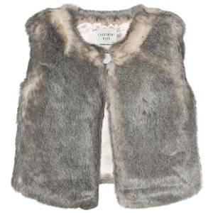 Carrément Beau Girls Coats and jackets Grey Grey Faux Fur Vest