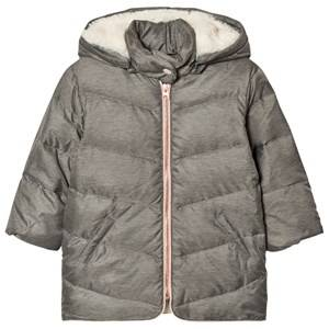 Carrément Beau Girls Coats and jackets Grey Grey Hooded Puffer Coat
