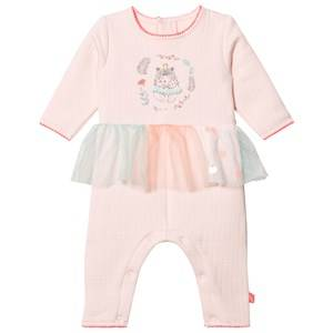 Billieblush Girls All in ones Pink Pink Quilted Footless Baby Body