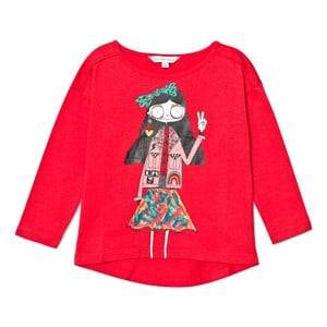 Little Marc Jacobs Girls Tops Red Red Miss Marc Print Long Sleeve Tee