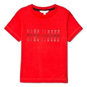 Little Marc Jacobs Boys Tops Red Red Branded Tee