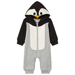 Stella McCartney Kids Unisex All in ones Grey Penguin Hooded Onesie