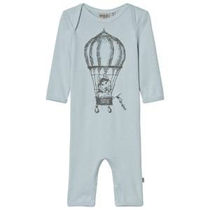 Wheat Girls All in ones Blue Jumpsuit Print Soft Blue