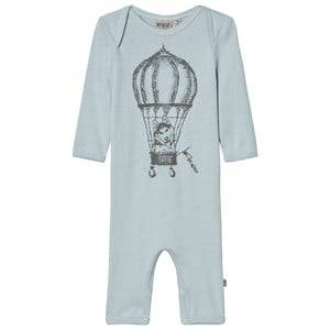 Wheat Girls All in ones Blue One-Piece Print Soft Blue