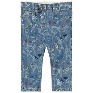 Stella McCartney Kids Girls Bottoms Blue Blue Scribble and Skates Lohan Jeans
