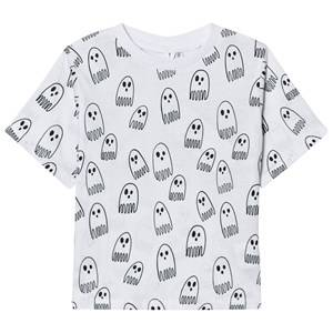 Stella McCartney Kids Boys Tops Grey White Ghost Print Tee