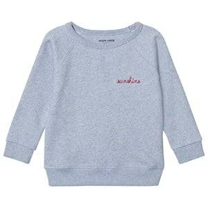 Maison Labiche Girls Jumpers and knitwear Blue Sunshine Embroidered Sweatshirt Blue