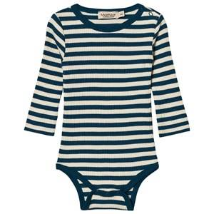 MarMar Copenhagen Unisex All in ones Blue Plain Baby Body Blue Abyss Stripe