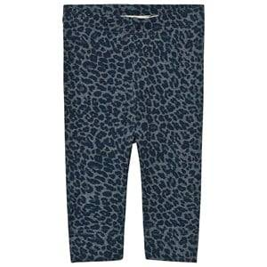 MarMar Copenhagen Unisex Bottoms Blue Leo Leggings Stormy Blue Leo