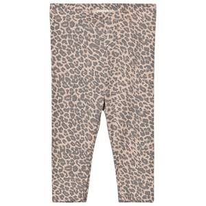 MarMar Copenhagen Unisex Bottoms Pink Leo Leggings Rose Leo