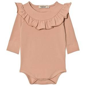 MarMar Copenhagen Unisex All in ones Pink Bibbi Baby Body Dusty Rose