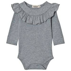 MarMar Copenhagen Unisex All in ones Grey Bibbi Baby Body Grey Melange