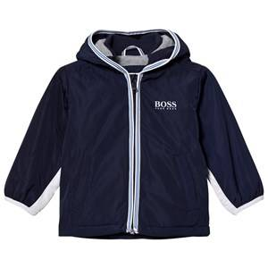 Boss Boys Coats and jackets Navy Navy/White Branded Hooded Windbreaker
