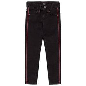 Pepe Jeans Girls Bottoms Black Black Pixelette Piped Detail Skinny Jeans