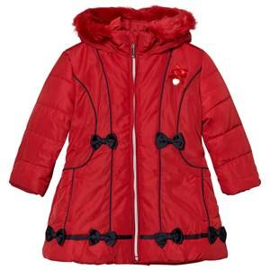 Le Chic Girls Coats and jackets Red Red Faux Fur Hooded Jacket