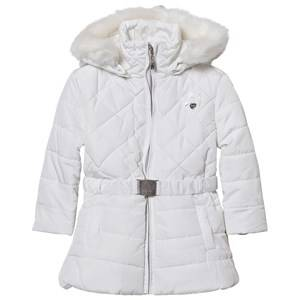 Le Chic Girls Coats and jackets White Off White Long Jacket with Buckle