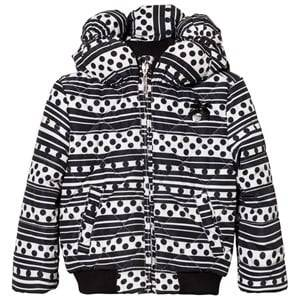 Le Chic Girls Coats and jackets Black Black Stripe and Dots Printed Jacket
