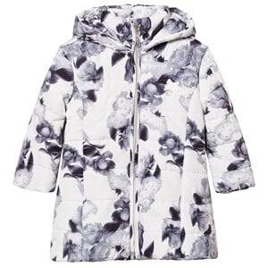 Le Chic Girls Coats and jackets White Flower Print Long-Line Jacket Off-White